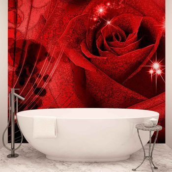 Flower Rose Abstract Wallpaper Mural