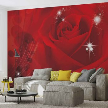 Flower Rose Red Wallpaper Mural