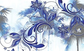 Flowers Abstract Art Wallpaper Mural