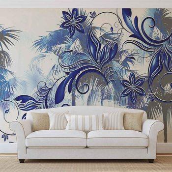 Wallpaper Mural Flowers Abstract Art