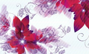 Flowers Abstract Wallpaper Mural