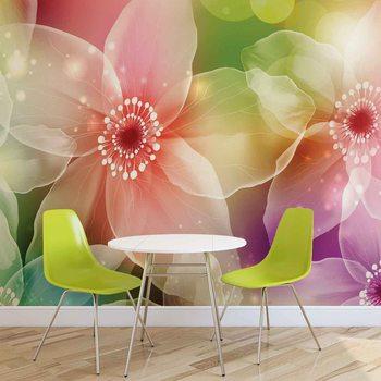 Flowers Art Wallpaper Mural