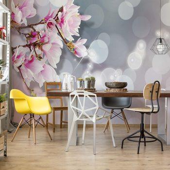 Flowers Pastel Bokeh Modern Design Wallpaper Mural