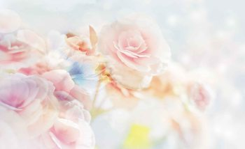 Flowers Pastel Colours Wallpaper Mural
