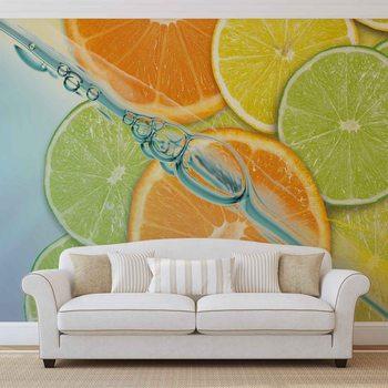 Food Fruits Lime Orange Lemon Wallpaper Mural