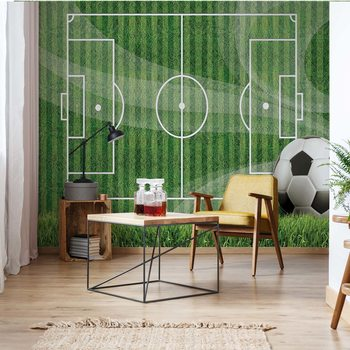 Football Pitch Wallpaper Mural