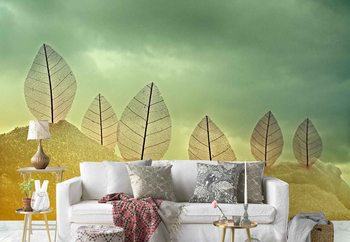 Fragile Leaves Wallpaper Mural