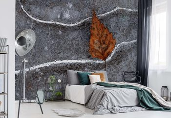 Frozen Leaf Wallpaper Mural