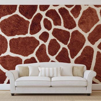 Giraffe Abstract Wallpaper Mural