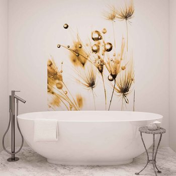 Golden Dandelion Wallpaper Mural