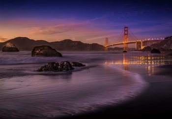 Golden Gate Bridge Fading Daylight Wallpaper Mural