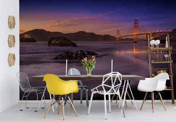 Golden Gate Bridge Fading Daylight Wallpaper Mural