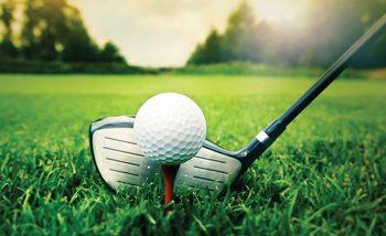 Golf Ball Club Wallpaper Mural