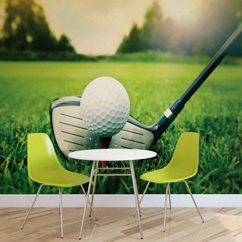 Golf Ball Club Wallpaper Mural