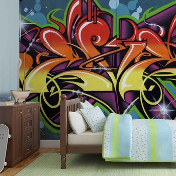 Wallpaper Mural Graffiti Street Art