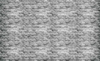 Gray Brick Wall Wallpaper Mural