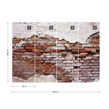Grunge Brick Wall Wallpaper Mural