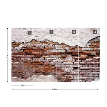 Grunge Brick Wall Wallpaper Mural