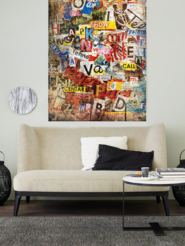 GRUNGE TYPO Wallpaper Mural