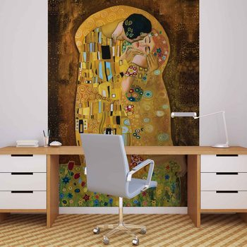 Gustav Klimt Art Kiss Wallpaper Mural