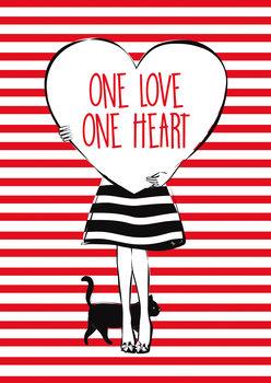 Heart Girl Wallpaper Mural