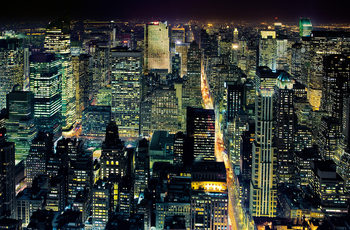HENRI SILBERMAN - NYC  from the empire state building Wallpaper Mural