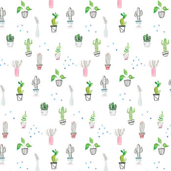 Houseplants and cacti Wallpaper Mural
