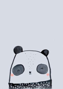 Wallpaper Mural Inky line panda