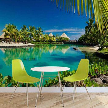 Island Palms Tropical Sea Wallpaper Mural