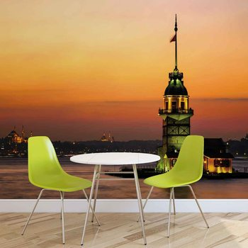 Istanbul City Urban Sunset Wallpaper Mural