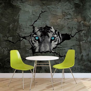 Jaguar Leopard 3D Wallpaper Mural