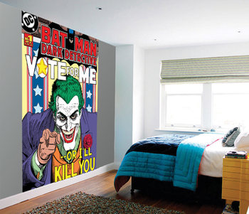 Joker - Vote Me or I'll Kill You Wallpaper Mural