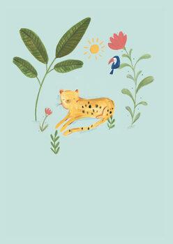 Wallpaper Mural Jungle leopard