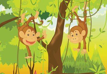 Jungle Monkeys Wallpaper Mural