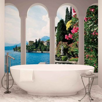 Lake Como Italy Arches Wallpaper Mural