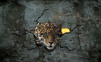 Leopard 3D Wallpaper Mural