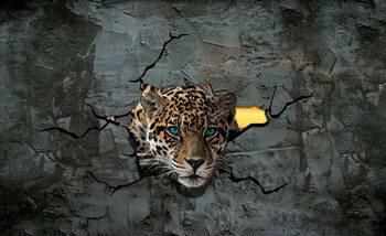 Leopard 3D Wallpaper Mural