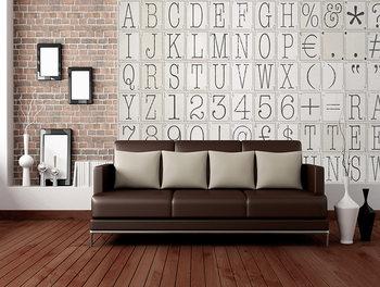 Wallpaper Mural Letters