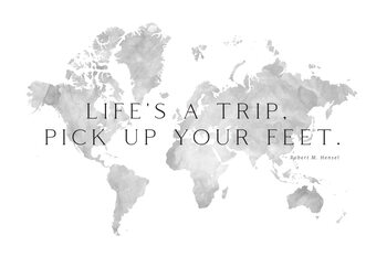 Life's a trip world map Wallpaper Mural