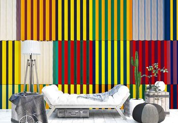 Light And Coloured Verticals Wallpaper Mural