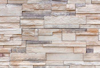 Light Stone Wall Texture Wallpaper Mural