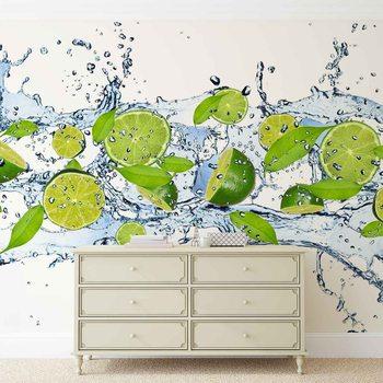Limes Water Wallpaper Mural