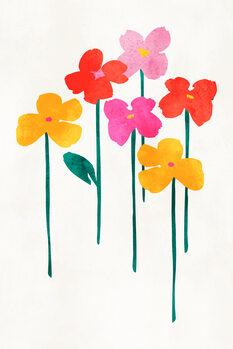 Wallpaper Mural Little Happy Flowers