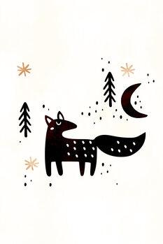 Little Winter Fox Wallpaper Mural