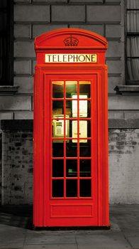 London - Red Telephone Box Wallpaper Mural