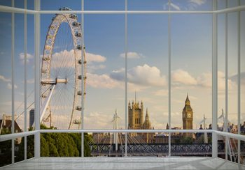 London - Window Wallpaper Mural