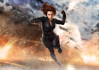 Marvel Avengers Black Widow Wallpaper Mural