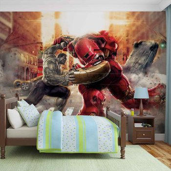 Marvel Avengers Fighting Allies Wallpaper Mural