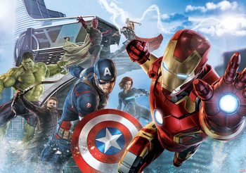 Marvel Avengers Team Wallpaper Mural