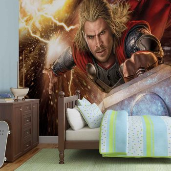 Marvel Avengers Thor Wallpaper Mural